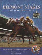 2008 Belmont Stakes Horse Racing Program Da'Tara Big Brown MINT!