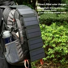 Portable Folding Solar Panel Charger Outdoor 10 Watt Camping Survival Cell Phone