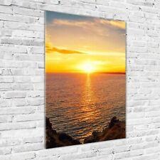 Wandbild Druck auf Plexiglas® Acryl Hochformat 70x100 Sonnenuntergang Meer