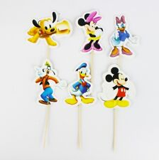 24 DISNEY MICKEY MINNIE MOUSE DONALD DAISY DUCK CUPCAKE/CAKE TOPPER PICK PARTY
