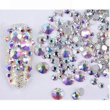300PCS Mixed DIY 3D Nail Art Rhinestones Glitters Acrylic Tips Decor Manicure JT