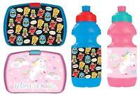 Children Kids Monster & Unicorn Lunch Box / Water Bottle Boys Girls School New