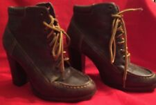 Woman's Colin Stuart High Heeled  Work Boots 6 1/2 M Ankle Boots