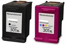 301XL Black & Colour Ink Cartridges Combo for HP Deskjet 2540 Printer Non OEM