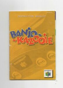 Banjo Kazooie N64 MANUAL ONLY Authentic Shows Wear