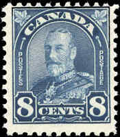 1930 Mint NH Canada F Scott #171 8c King George V Arch/Leaf Stamp
