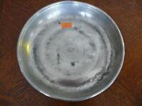 Rarität kleiner alter ca. 200 Jahre alter Zinn Suppenteller oder Katzenteller n3