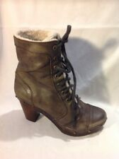 Urban Vintage Brown Ankle Leather Boots Size 38