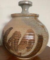 Vintage Stoneware Vase Jug Vessel Urn Mid Century Modern Studio Pottery Deyoe E