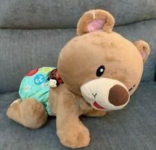 "V-tech Baby Crawl Along Bear Singing Talking 10"" Activity Educational Baby Toy"