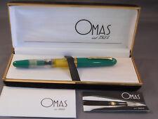 Omas Vintage Demonstrator Fountain Pen--green--broad nib