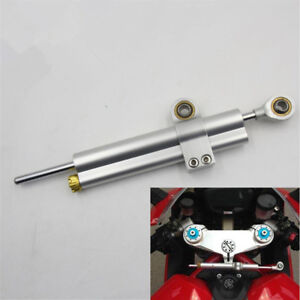 CNC Race Motorcycle Steering Damper Linear Wobble Stabilizer Damping Handle Bar