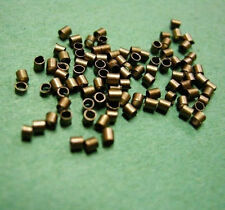 100pc Antique Copper Crimp Tube Stopper Metal Bead 1.5mm-1860A