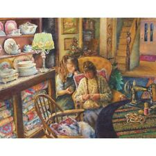 SUNSOUT EASY GRASP JIGSAW PUZZLE LEARNING TO SEW SUSAN BRABEAU 1000 PC NOSTALGIA