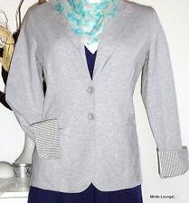 ♥ ESPRIT ♥ Jacke Blazer - 38 M melange, grau grey - COTTON BAUMWOLLE NEU m.