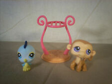 Littlest Pet Shop #189 and #190 Pet Shop Pairs Blue Bird with Monkey and Cage
