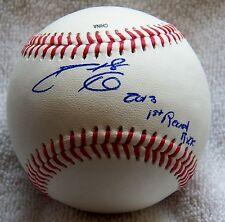 Cincinnati Reds Phillip Phil Ervin Signed Rawlings Minor League Baseball Auto
