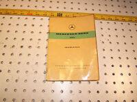 Mercedes 1961,1962 W120 180C PONTON Owners MANUAL Original NOT rep OEM 1 Booklet