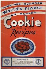 1950s Gettelman Brewing Co Cookie Cook Booklet