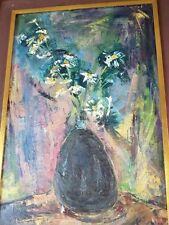 "ORIGINAL SIGNED DORIS BARSKY KREINDLER PROVINCETOWN Oil - ""WIND BLOWN DAISIES"""
