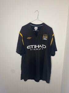 Xxl Mens Football Shirt Man Manchester City 2009 Umbro Maglia Bpl