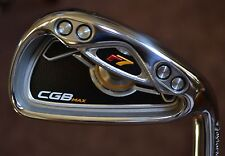 NEW TaylorMade   r7 cgb MAX 6 Iron Black steel stiff  reax 90 gram