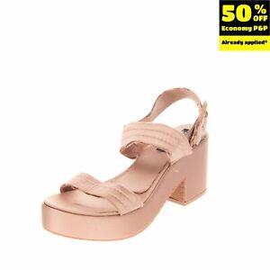 RRP€215 PEDRO GARCIA Satin Slingback Sandals EU 39 UK 6 US 9 Distressed Stitched