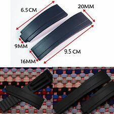 New Replacement 20MM Waterproof Silicone Rubber Wrist Band Strap For Rolex116655