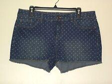 14 Shorts Lauren Conrad Womens Distressed Mini Short Cut Off Denim Dots New