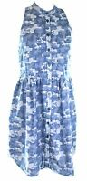 Stella McCartney Shirt Dress Blue Camouflage Small UK 8, IT 38 Womens RRP £475