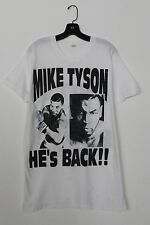 90s MIKE TYSON Vintage Boxing Shirt HE'S BACK 1995 True Rare T Shirt 1990s Tee