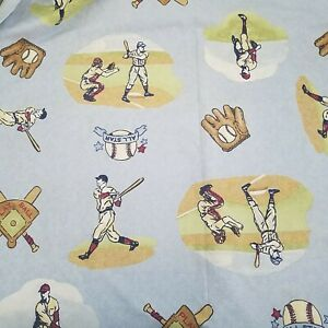 Pottery Barn Kids Blue BASEBALL Twin Duvet Cover Cotton EXCELLENT
