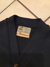 Vtg 40s 50s Hl Whiting Ucla Letterman Wool Rockabilly Cardigan Sweater