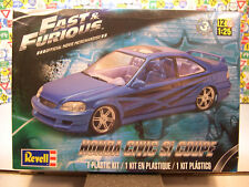 FAST AND FURIOUS HONDA CIVIC SI COUPE REVELL 1:25 SCALE PLASTIC MODEL KIT