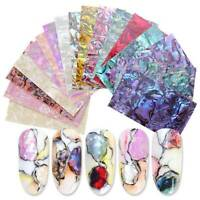 3D Gradient Marble Shell Starry Nail Art Foil Transfer Decal Wrap Sticker Decor