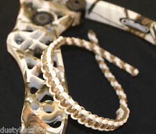 archery bow wrist sling Prairie Camo and white Bling Sling strap FREE SHIPPING