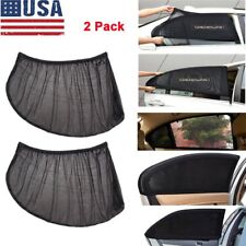 2Pcs Car UV Protection Sun Shade Curtains Side Window Visor Mesh Cover Shield US