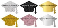 Premium Glitter FOIL GOLD SILVER BLACK GRADUATION CAP Envelope Seal Sticker 34mm