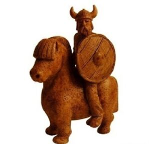 Candy Designs Norway Viking on Horse Figure, NEW