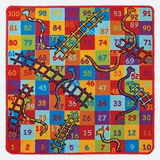 Snakes and Ladders Rug 100 X 100 Cm 1097314727616 by Animals