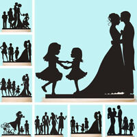 Family Cake Topper with Children Kids Black Customised Wedding Anniversary Gift