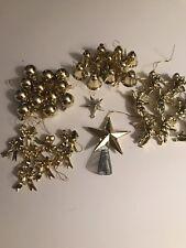 Lot 42 Vintage Christmas Plastic Mini Ornaments Angels Bells