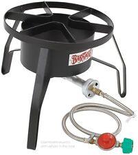 High Pressure Propane Gas Burner Stove Outdoor Turkey Deep Fryer Seafood Boil
