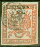 Transvaal 1870 1d Carmine-Red SG13a Fine Used