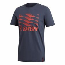 adidas Official Mens FC Bayern Munich Football DNA Graphic Tee T-Shirt Top Red