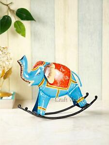 Swing Elephant Trunk Up Showpiece Statue Decorative Items for Home Office Desk T
