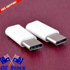 3pcs x Micro-USB to USB-C adapter-Android Apple MacBook converter OZ Stock