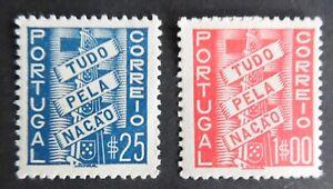 Portugal 1935-1941 Tudo Pela Nação in mint MH 25 c. and 1$00