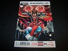 SIGNED FRANK CHO AVENGERS #29 ORIGINAL SIN MARVEL COMICS SIGNED SIDEWAYS IN RED