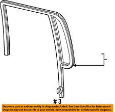 FORD OEM Window Glass-Rear Door-Run Channel Left F87Z7825767BAA